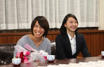 松本薫選手と畠山愛理選手