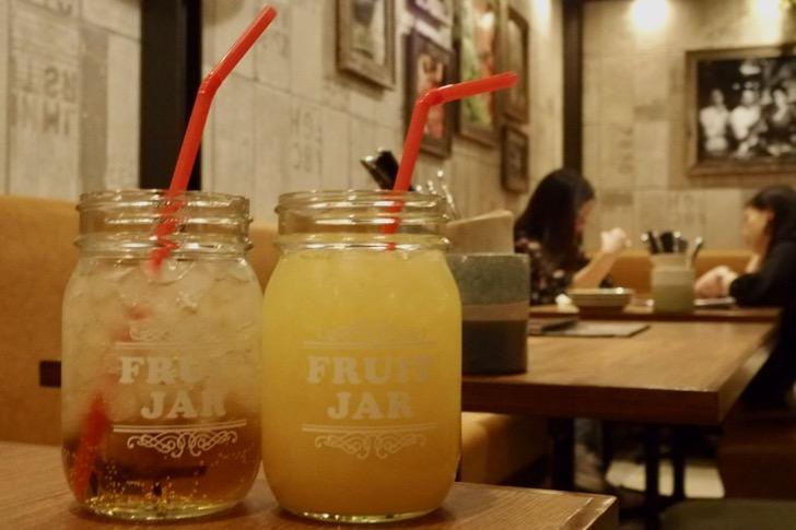 オレンジジュースとジンジャーエール