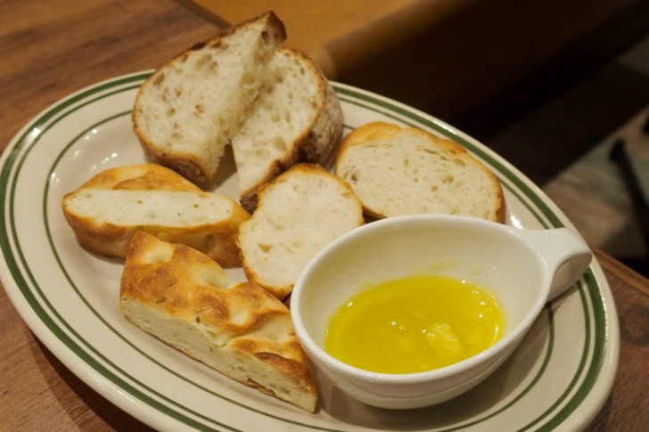 自家製パンの盛合せ(650円)