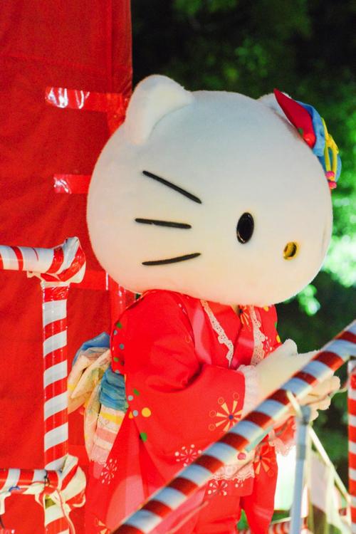 落合夏祭盆踊り大会キティ