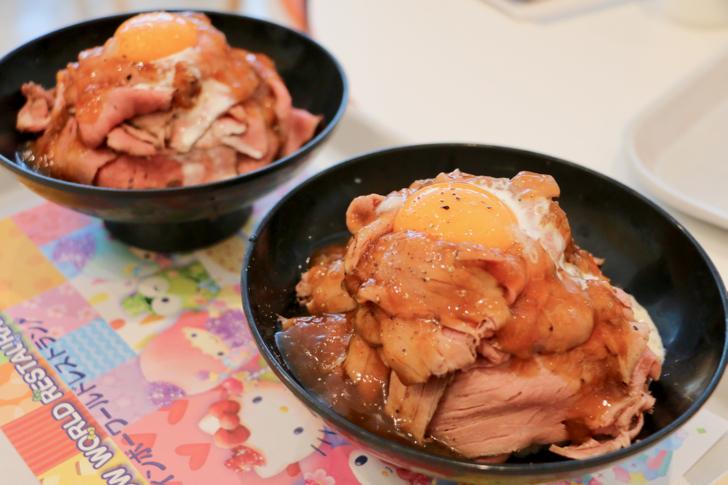 サンリオレインボー ワールドレストランローストビーフ丼