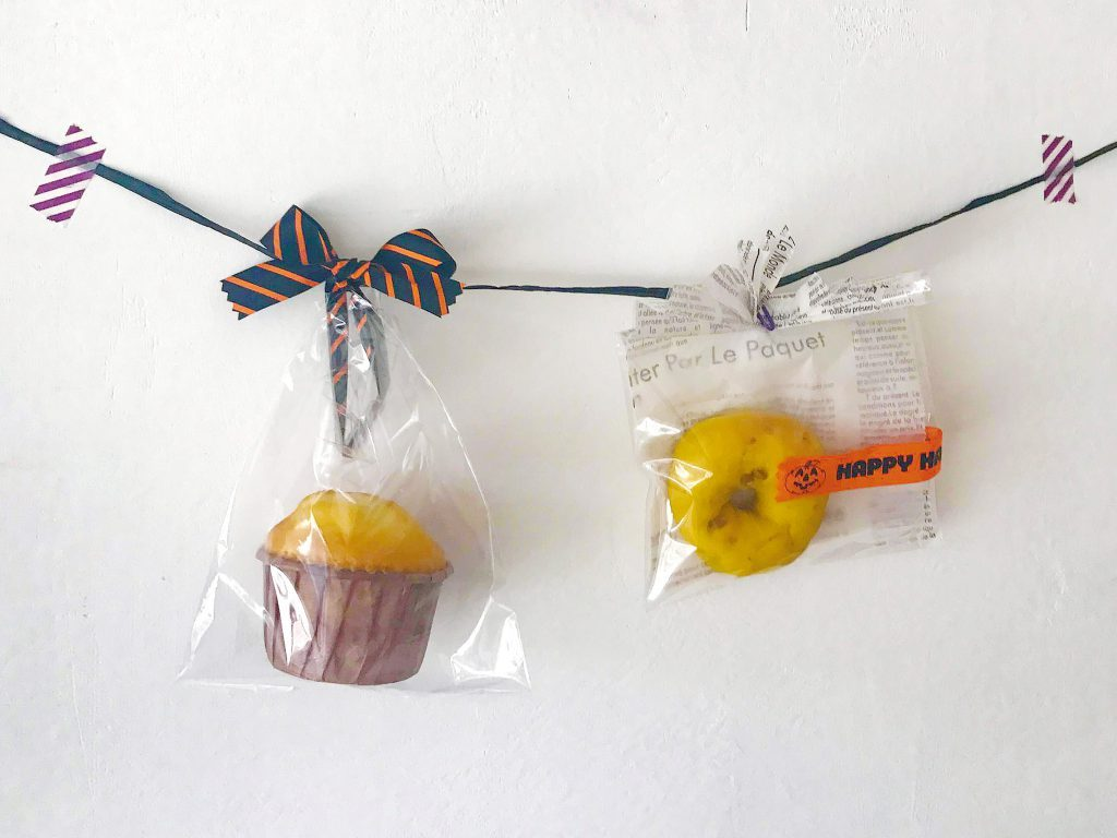 袋のアレンジ2種+リボンのかけ方