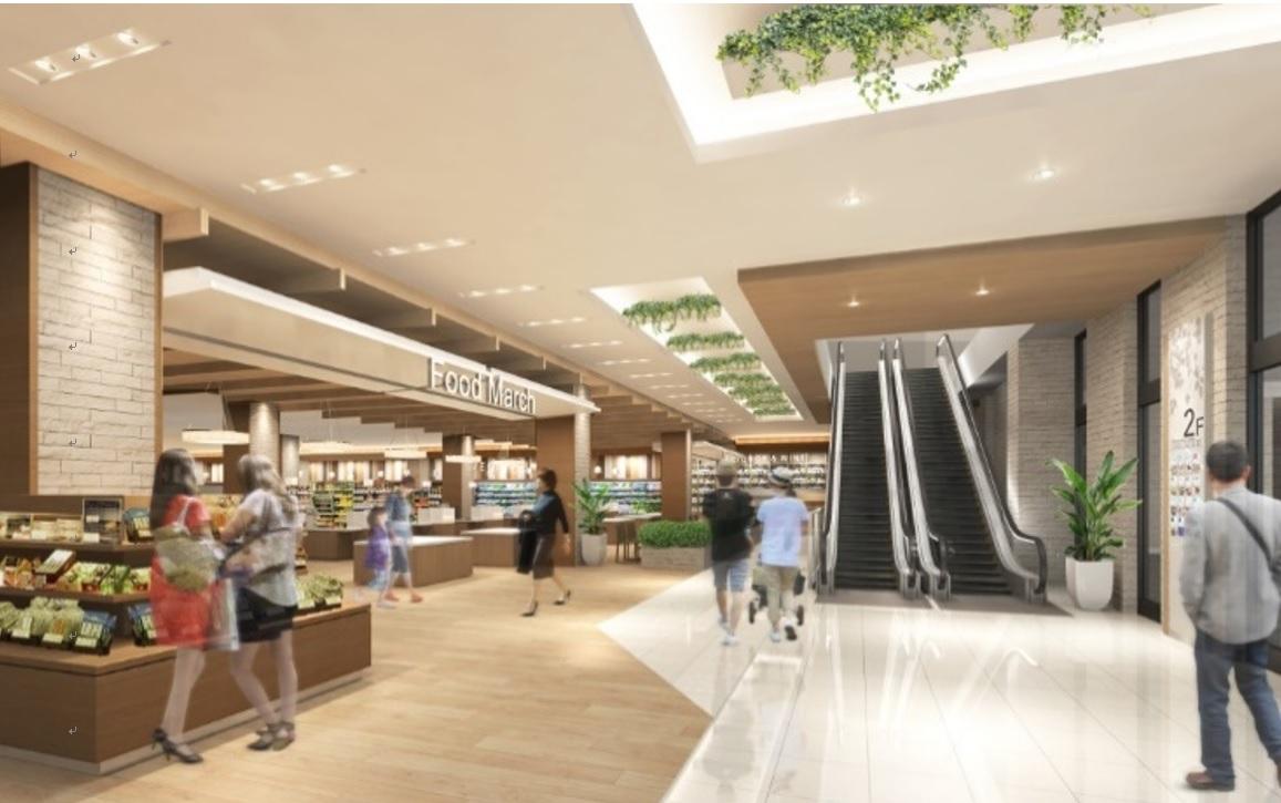 (仮称)稲城小田良ショッピングセンター計画 建物完成予想パース