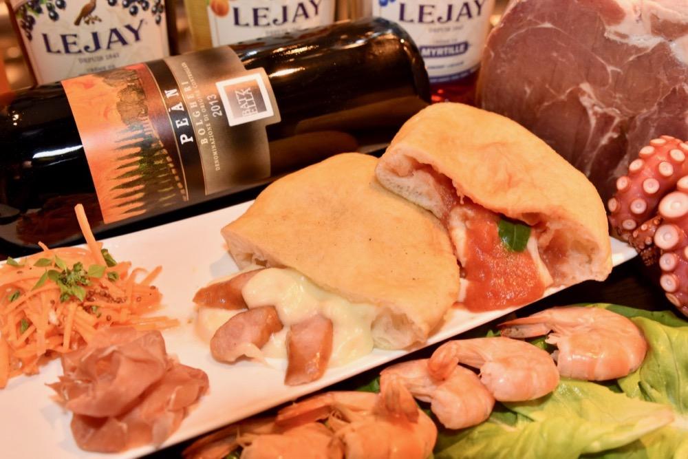 「モッツァレラチーズの揚げピザ ランチボックス」 900円