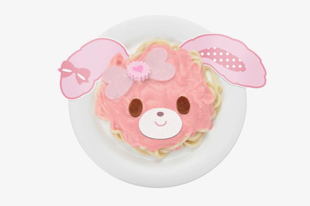 ぼんぼんりぼんのピンクカレーうどん (1,200円)