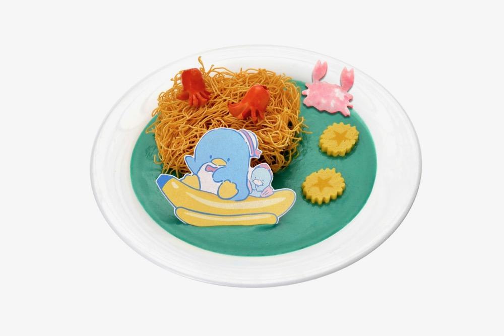 タキシードサムのかた焼きそばカレー (1,200円)