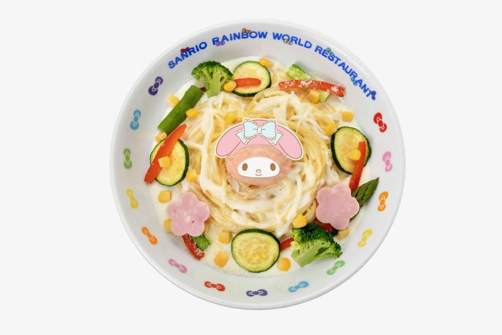 マイメロディのタラモクリームパスタ (1,200円)