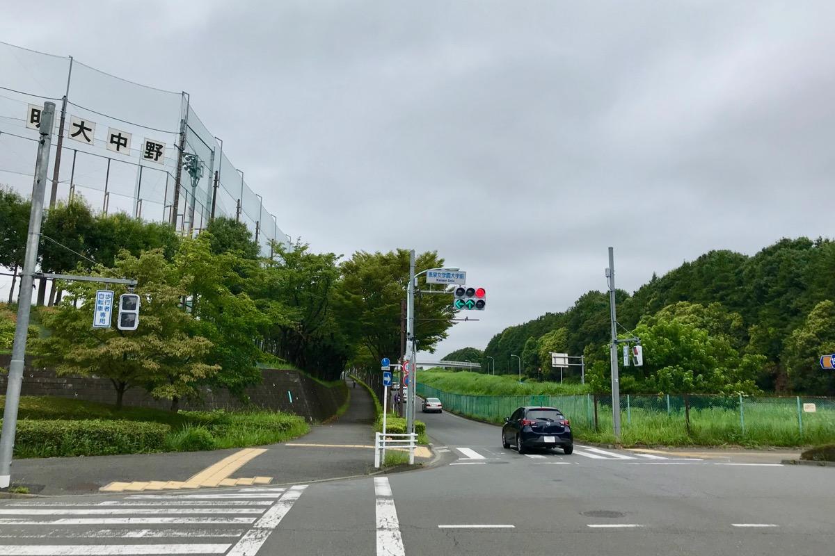 恵泉女学園大学前の交差点