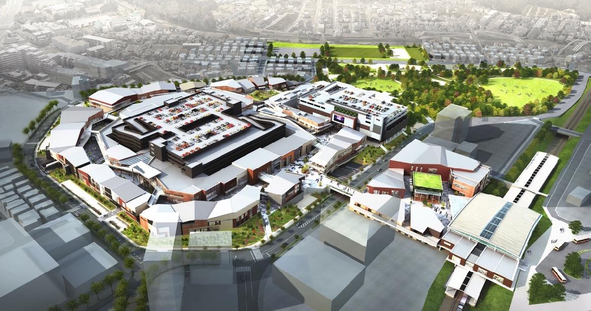 「南町田グランベリーパーク」俯瞰イメージ