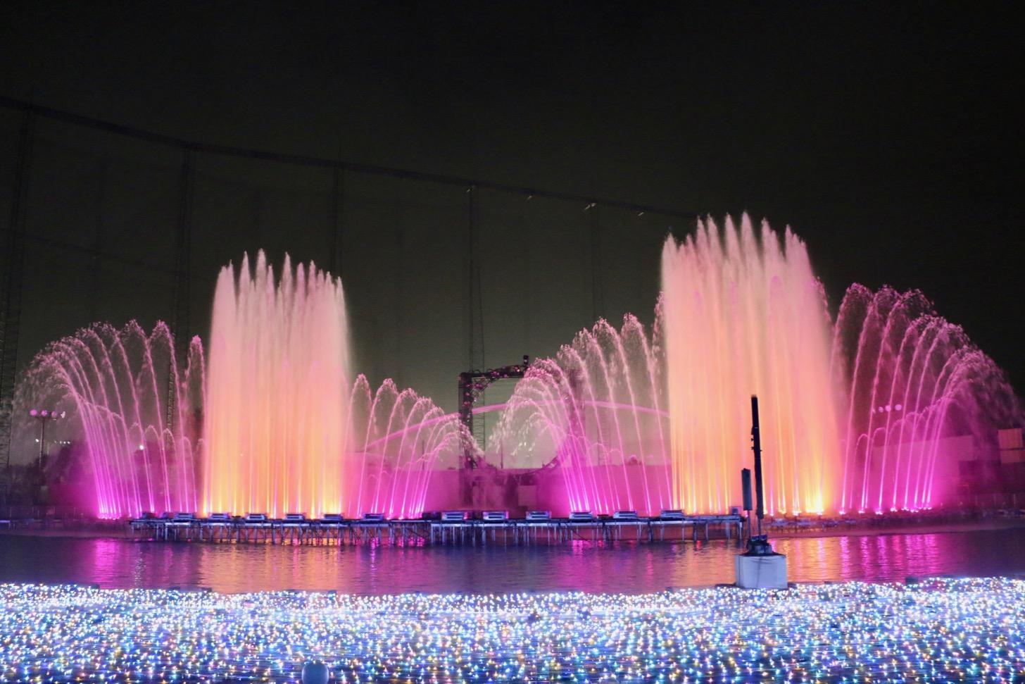 よみうりランド ジュエルミネーション 大迫力の噴水ショー