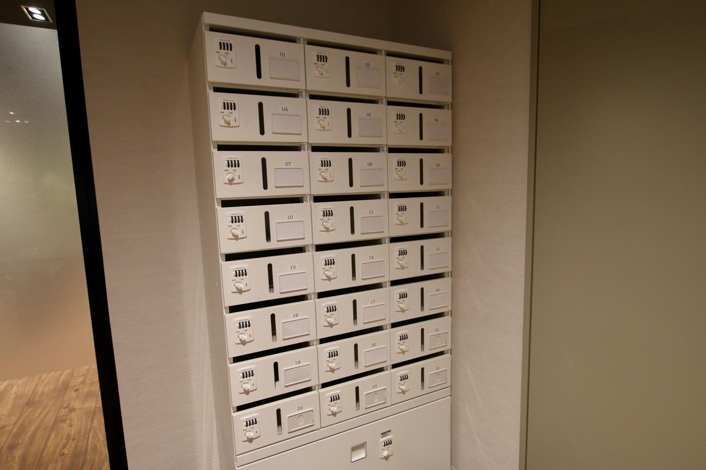 有料の郵便ポスト(登記・住所利用可 15,000円/月)が利用可能