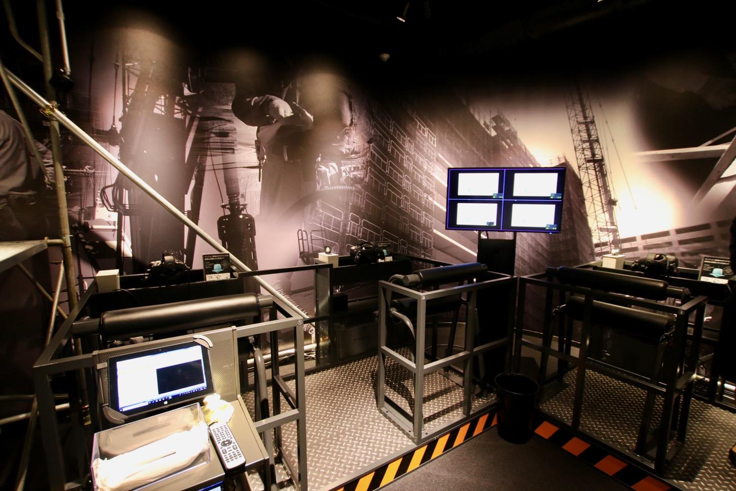 VR体験でマンション施工現場の体験できるコーナー