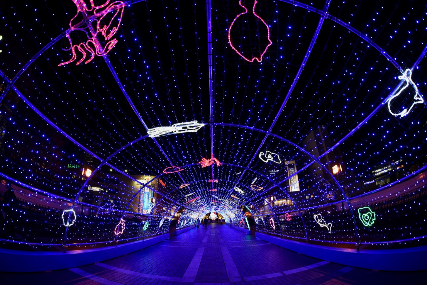 多摩センターイルミネーション 長さ50mの光の水族館
