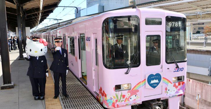サンリオラッピング電車が出発進行!