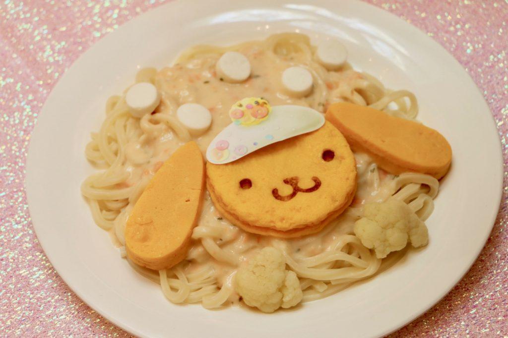 わんぱくプリンの雪あそびクリームうどん(1,200円)