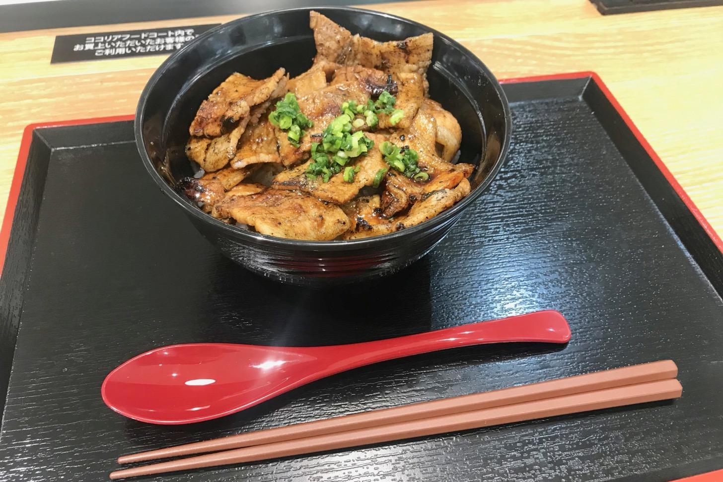 網焼豚丼(並盛)