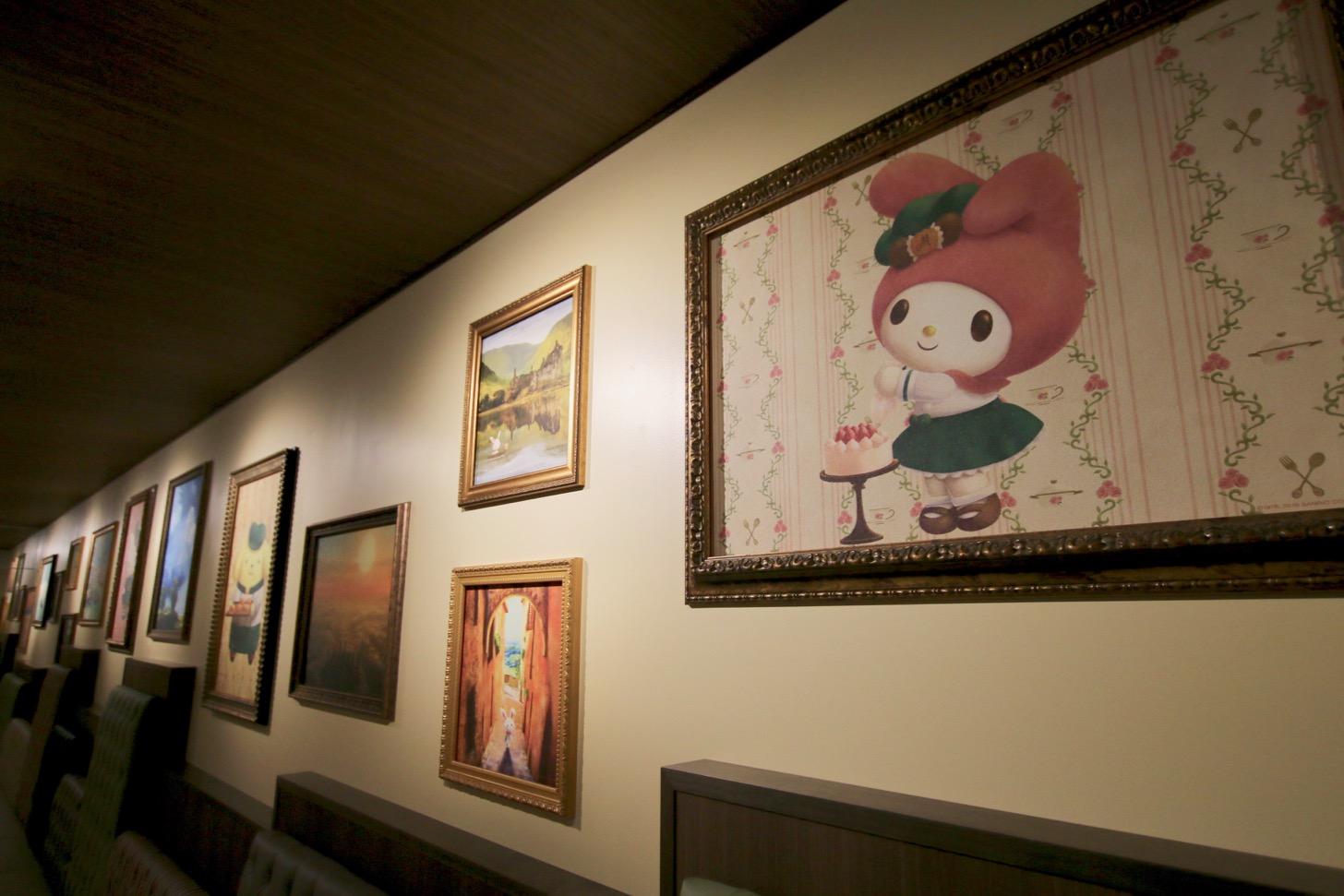 館のレストラン 絵画