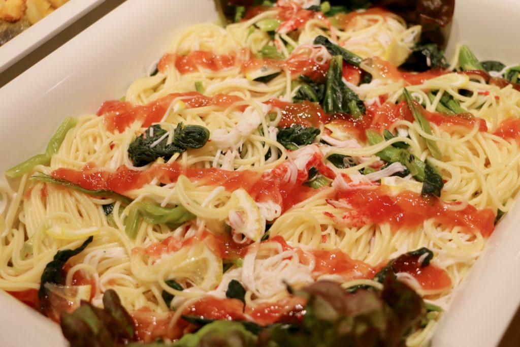 小松菜とかにかまのサラダスパゲティ