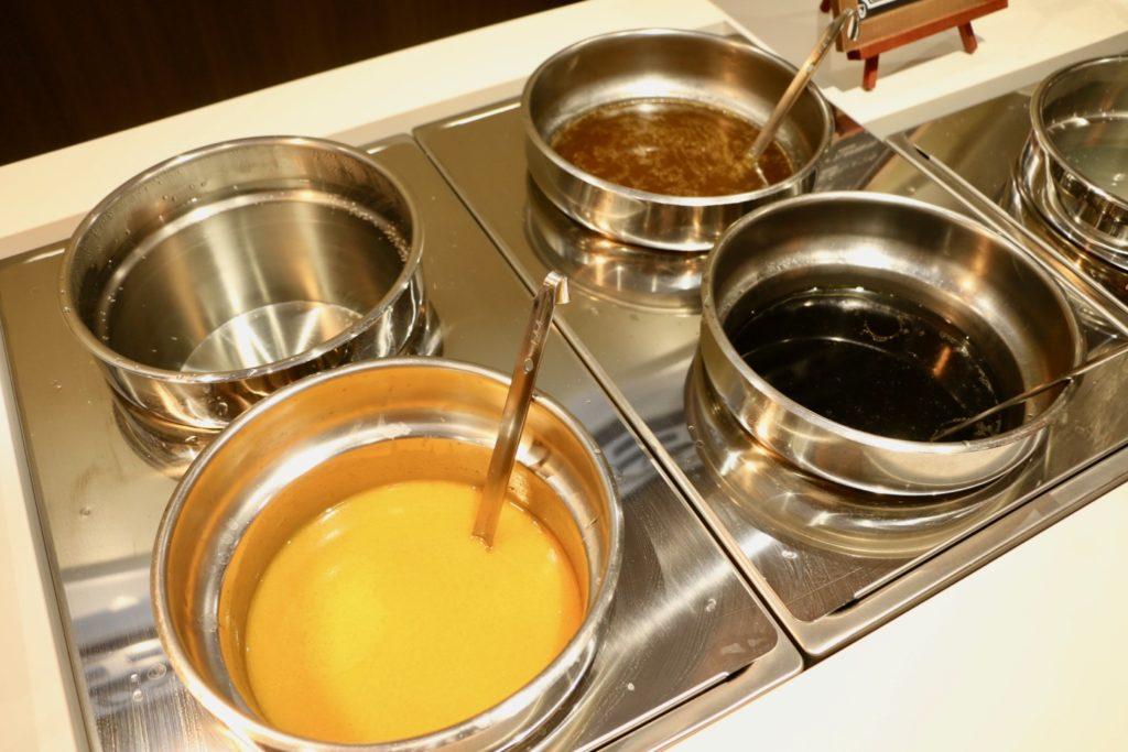 ラーメンスープは3種類