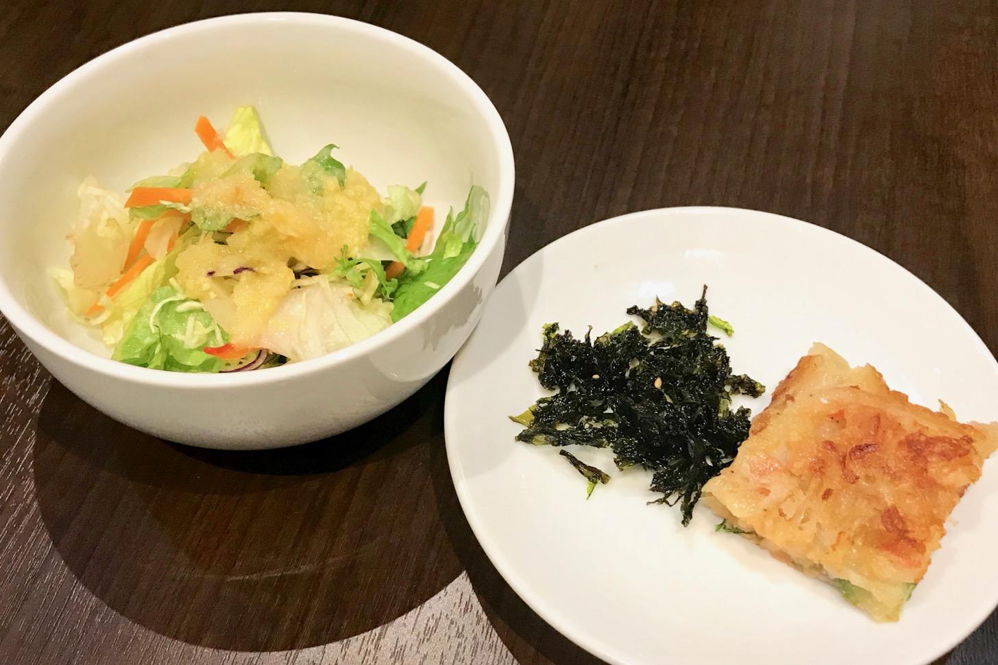 サラダ 韓国のり チヂミ