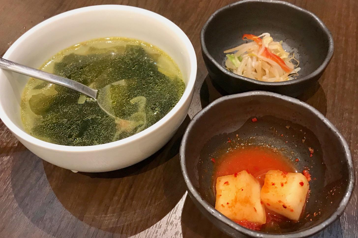 スープ カクテキ ナムル