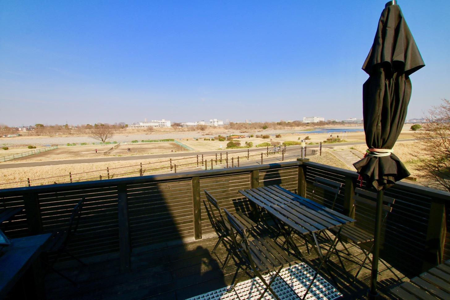 アリーシアカフェ テラス席からの眺め