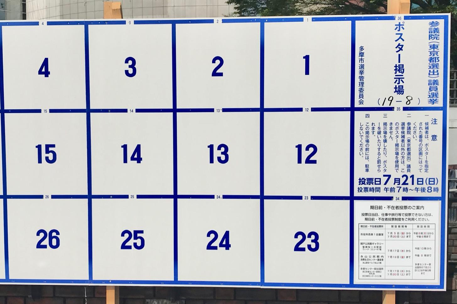 【参議院議員選挙2019】期日前投票所はこの4ヶ所!