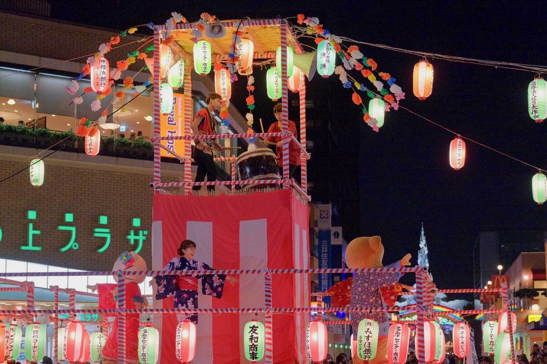 落合夏祭大盆踊り大会のぽんぽこくん(浴衣姿)