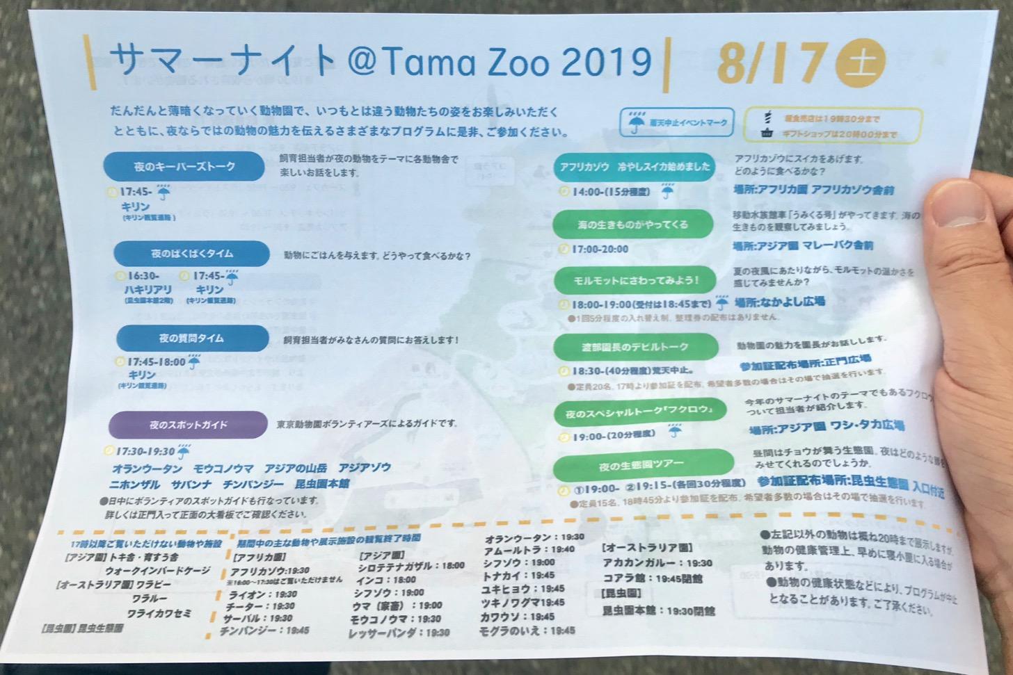 サマーナイト@Tama Zoo 2019──イベント