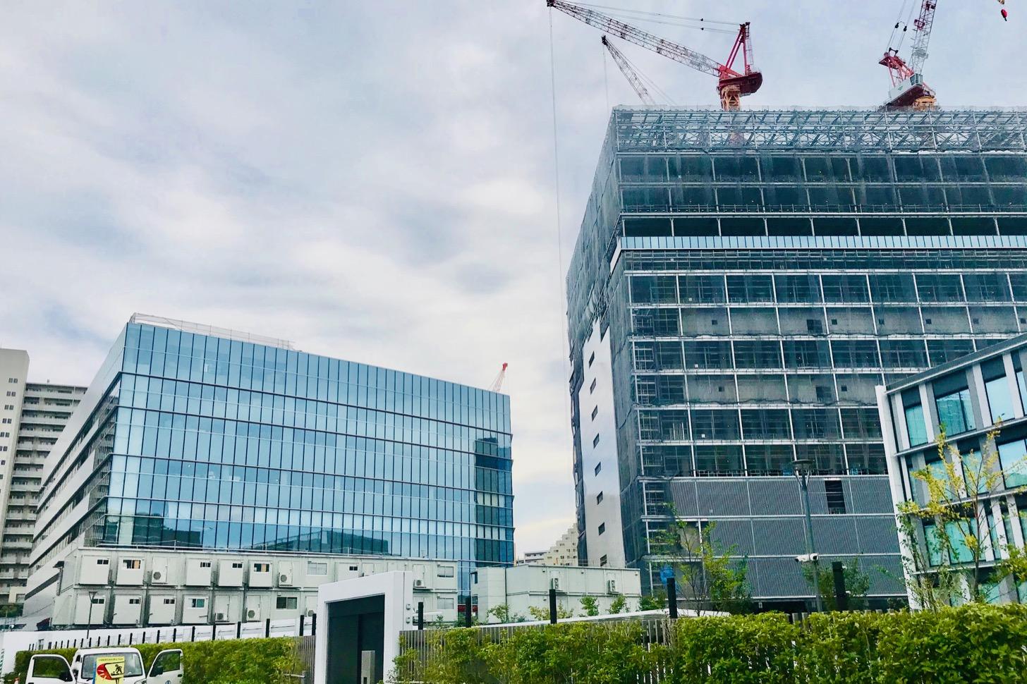 建設中のTELEHOUSE TOKYO Tama5と(仮称)多摩研修センター