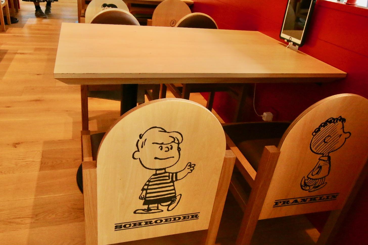 PEANUTS Cafe スヌーピーミュージアム 座席