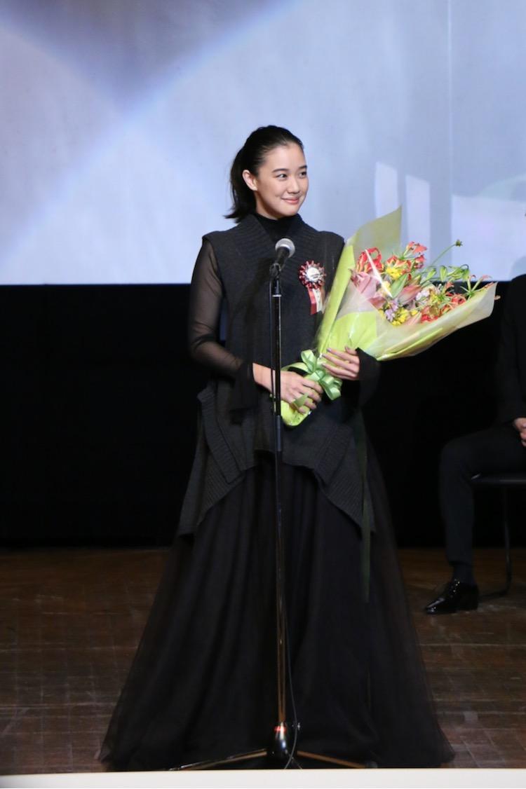 蒼井優さん 第11回TAMA映画賞授賞式(C)多摩ポン