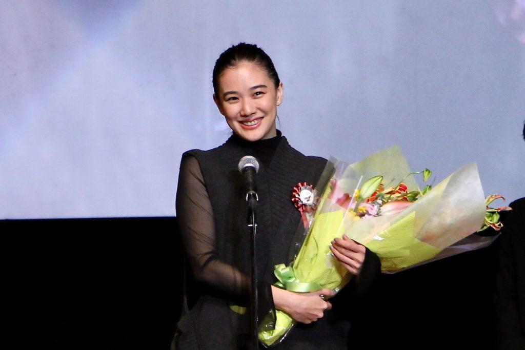 昨年度、最優秀女優賞を受賞した蒼井優さん (C)多摩ポン