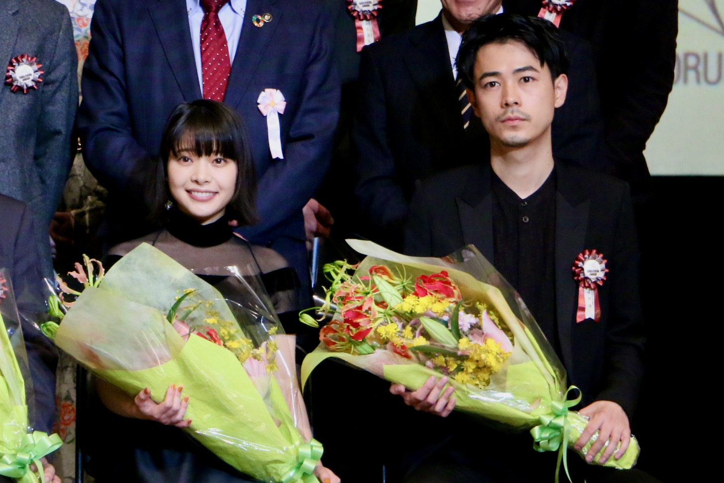 成田凌さん、岸井ゆきのさん 第11回TAMA映画賞授賞式(C)多摩ポン
