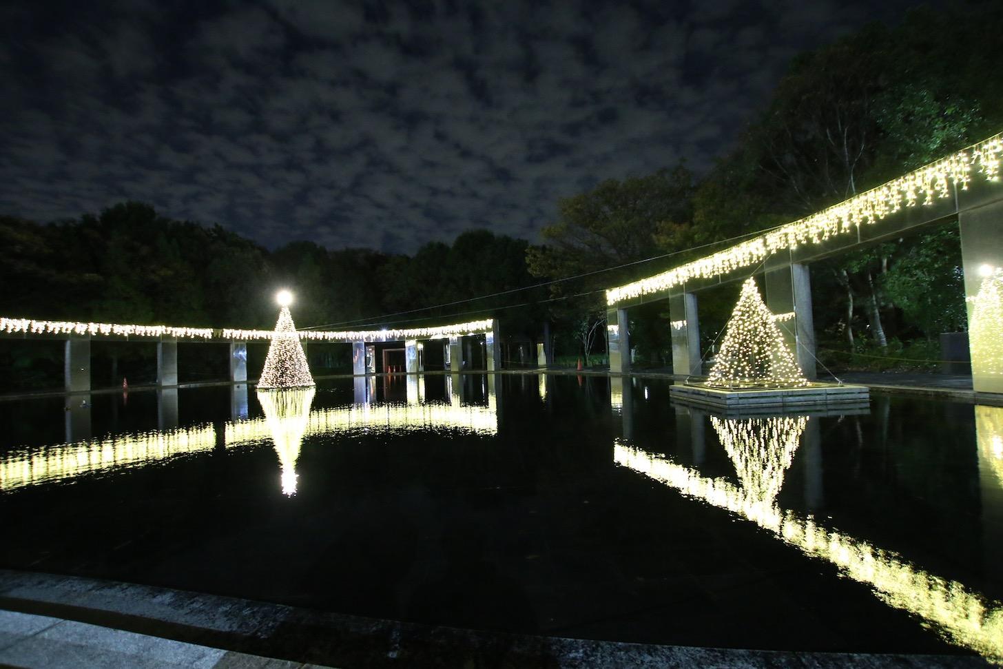 多摩センターイルミネーション2019 きらめきの池