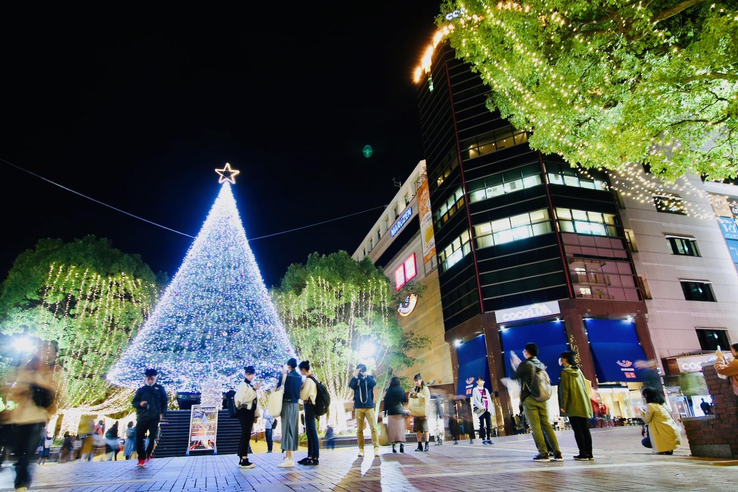 多摩センターイルミネーション2019 クリスマスツリー