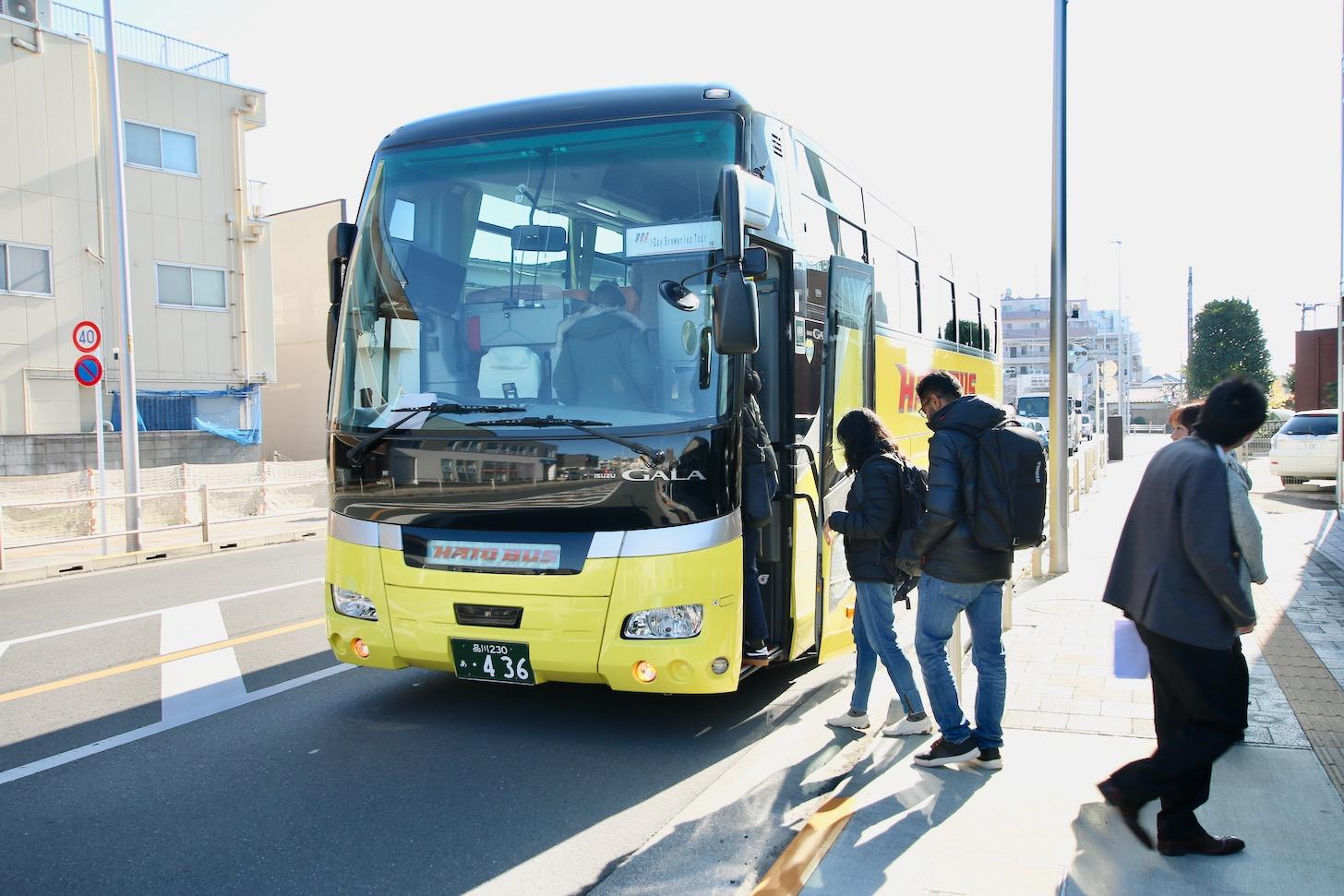 多摩エリアの日本酒酒造を巡るインバウンドモニターツアー はとバス