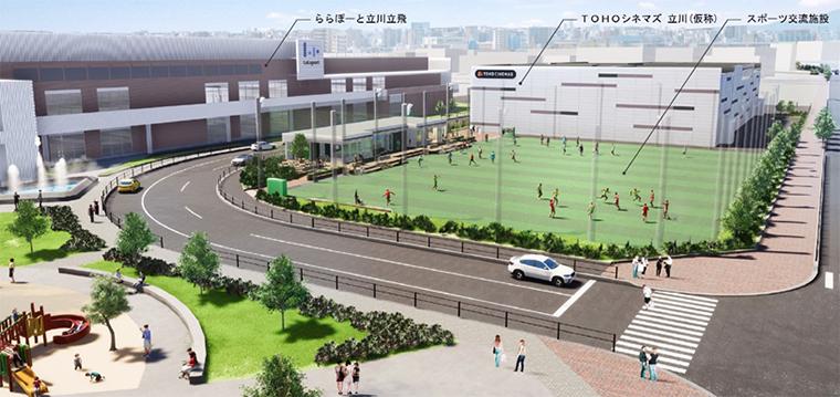 多摩モノレール「立飛」駅からのイメージ