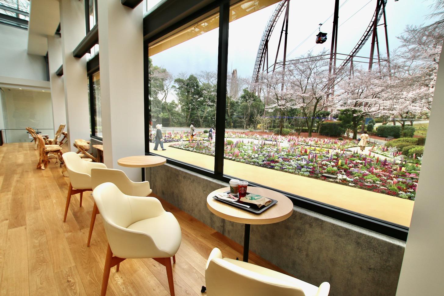 スターバックスコーヒー よみうりランドHANA・BIYORI店からの眺め