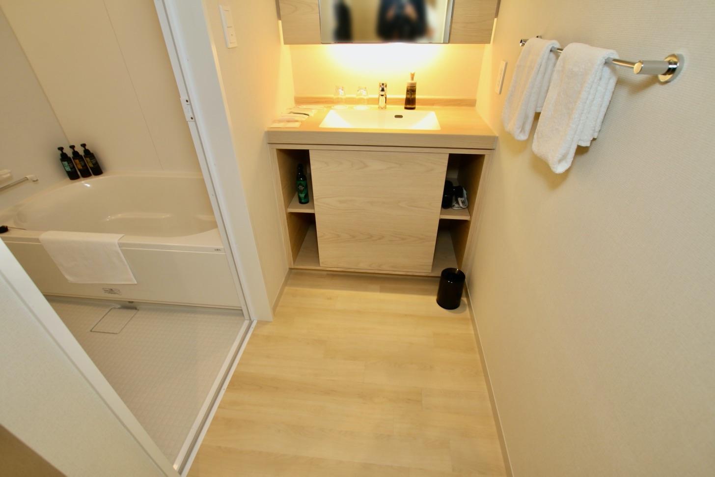 LINK FOREST ツインルーム(広さ31㎡/10室)洗面台とバスルーム