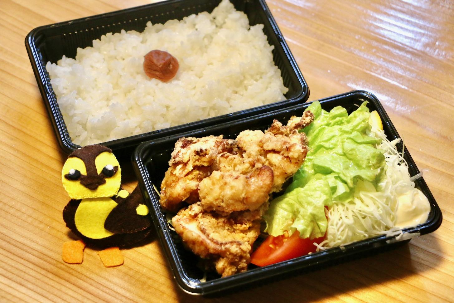 ボリューム満点の国産 若鶏唐揚げ弁当