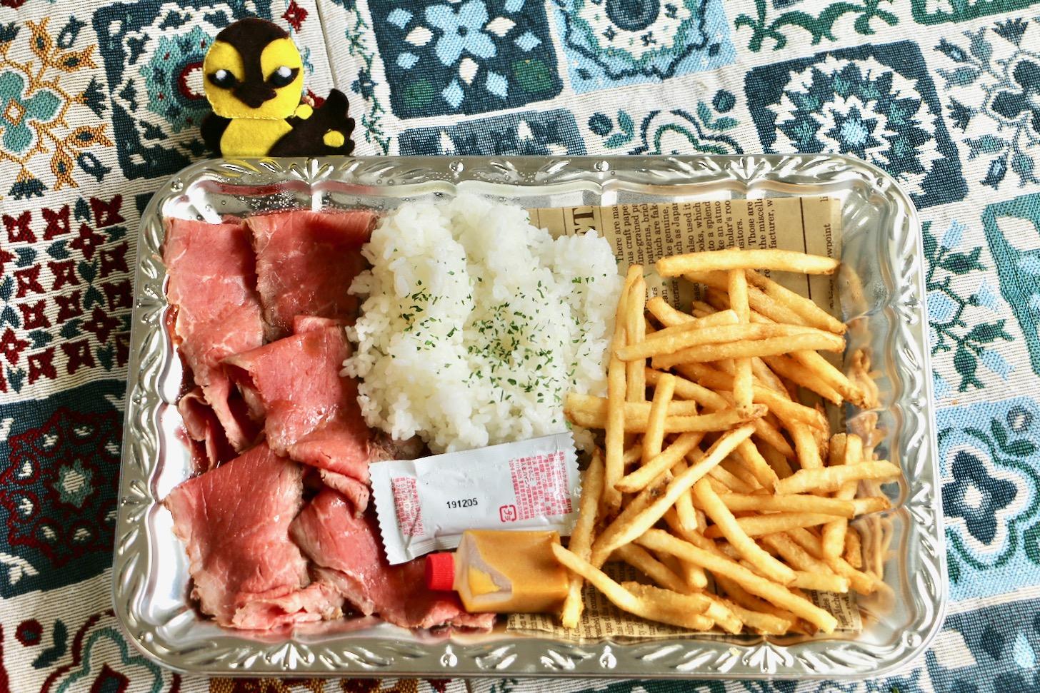 熟成肉LAB ダ・ブッチャーズ 多摩センター店のローストビーフとカモゴロー