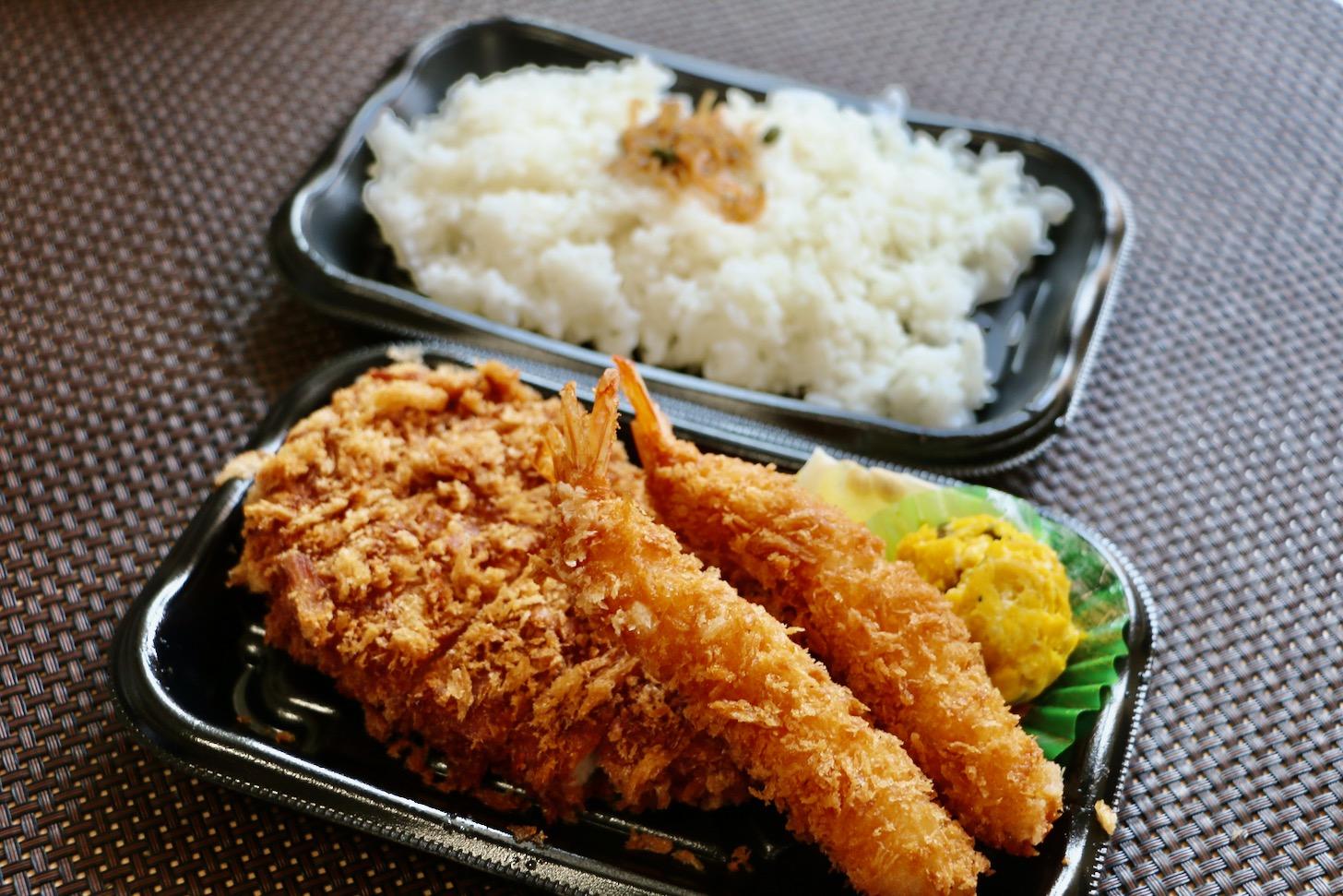 和食さと「とんかつと海老フライ弁当(4/24まで)」