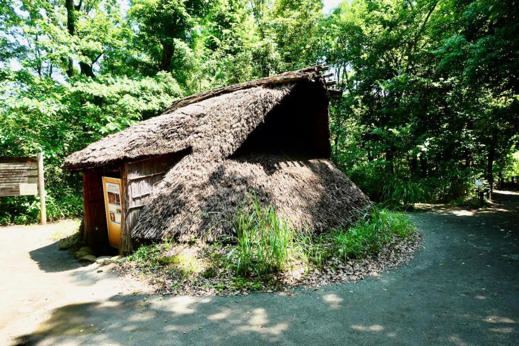 多摩センターの遺跡庭園「縄文の村」敷石住居(4,500年前)