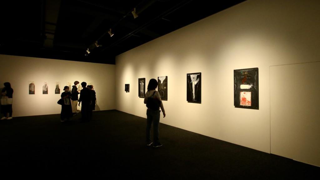 D室には晩年の作品も展示