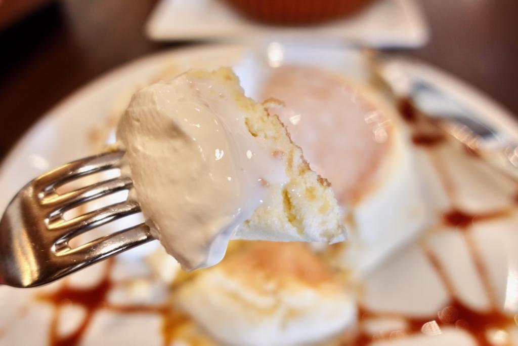 高倉町珈琲 特製クリームのリコッタパンケーキ
