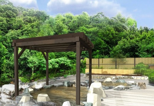 「源泉かけ流しの露天風呂」イメージ