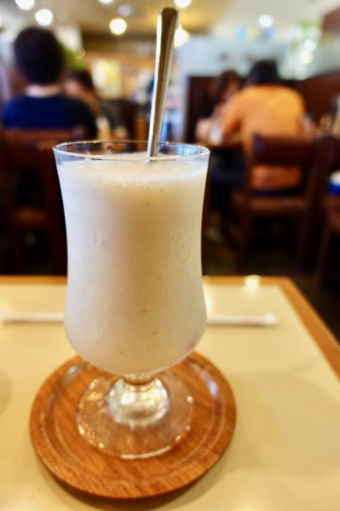 「サンコーヒー」のバナナミックスジュース