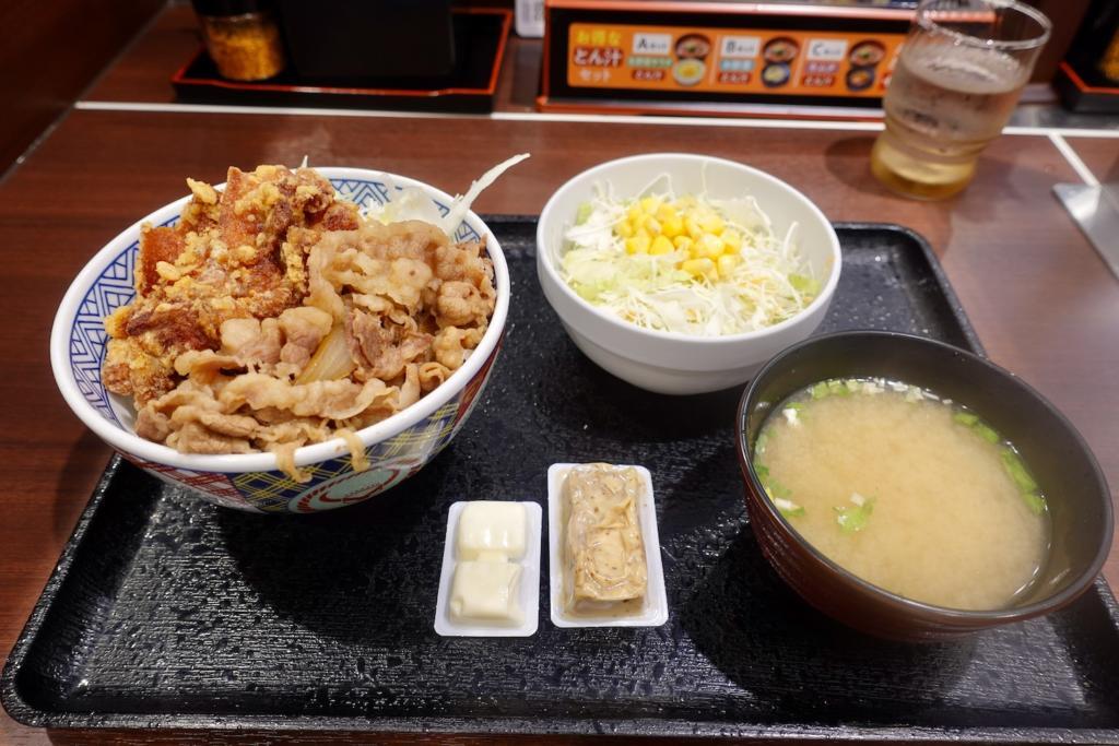 吉野家 聖蹟桜ヶ丘駅店「から牛」とAセット