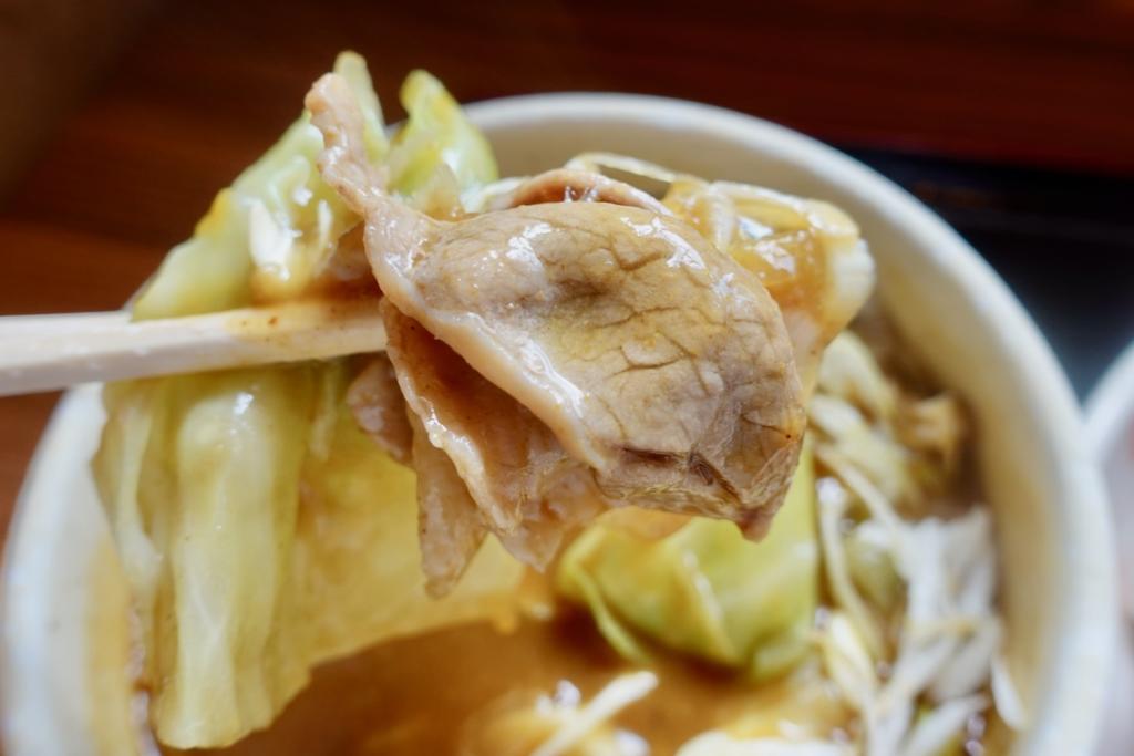 小平うどん聖蹟桜ヶ丘店の肉入りカレーうどん